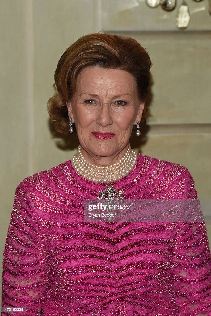 Queen Sonja of Norway attends the American-Scandinavian Foundation Gala Dinner at The Pierre Hotel on April 17, 2015 in New York City.
