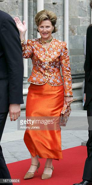 Queen Sonja Of Norway Attends The Celebrations In Trondheim For The Centennial Anniversary Of King Haakon Vii Queen Maud'S Coronation Which Took...
