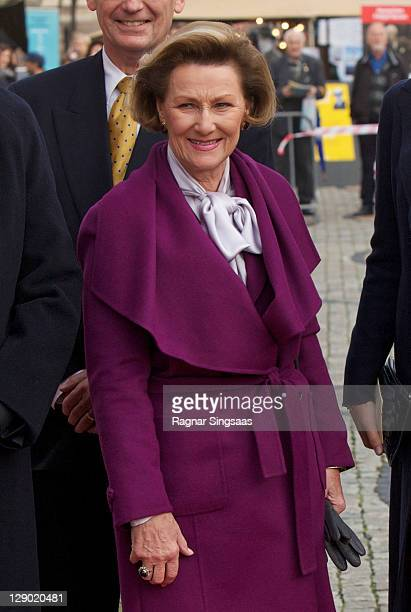 Queen Sonja of Norway attends the commemoration of the 150th Anniversary of the birth of Fridtjof Nansen at University of Oslo on October 10 2011 in...