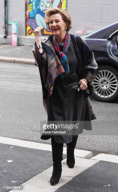 Queen Sonja of Norway attends The Empowerment Breakfast With Minority Women at the MiRA Center at Melahuset on March 8 2019 in Oslo Norway