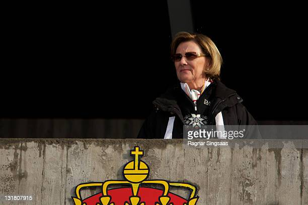 Queen Sonja of Norway attends the FIS Nordic World Ski Championship 2011 Mens Cross Country Pursuit at Holmenkollen on February 27 2011 in Oslo Norway