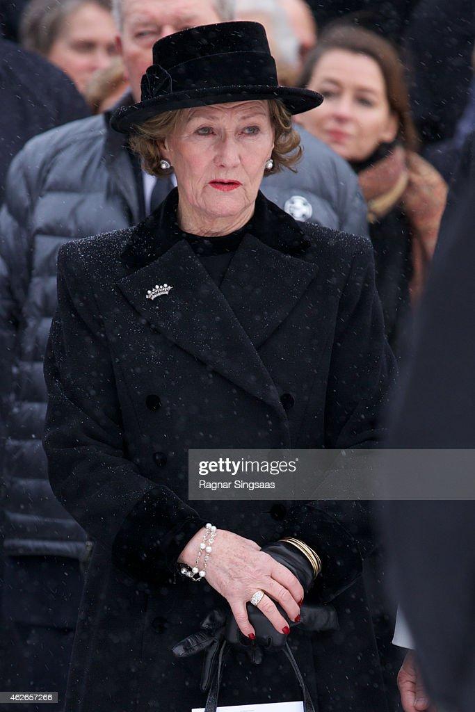 Johan Martin Ferner Funeral In Oslo : News Photo