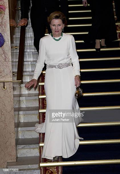 Queen Sonja Of Norway Attends The Norwegian Nobel Committee'S Banquet At The Grand Hotel Oslo