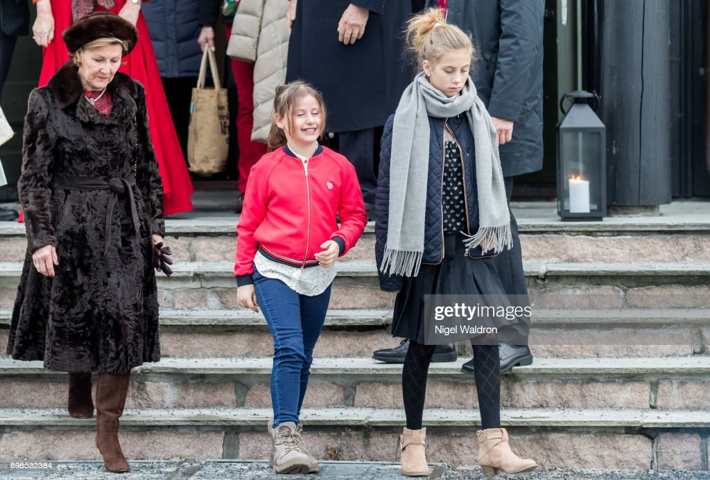 Norwegian Royals Attend Christmas Service : News Photo