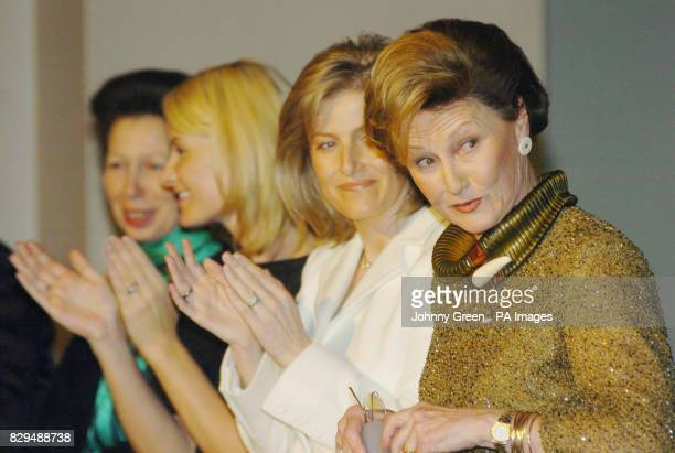 Queen Sonja of Norway is joined by the Countess of Wessex Crown Princess MetteMarit and the Princess Royal