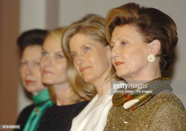 Queen Sonja of Norway is joined by the Countess of Wessex, Crown Princess Mette-Marit and the Princess Royal.