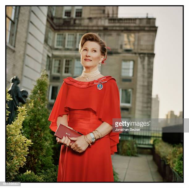 Queen Sonja of Norway is photographed for Vanity Fair Magazine on April 26 2013 in New York City PUBLISHED IMAGE