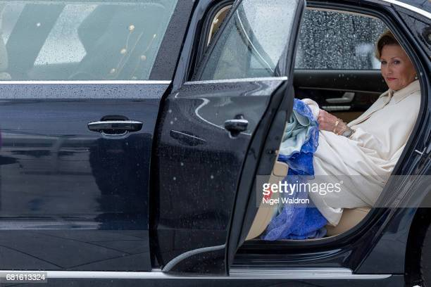 Queen Sonja of Norway is seen arrives at the Opera House on the occasion of the celebration of King Harald and Queen Sonja of Norway 80th birthdays...