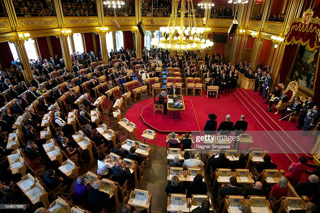 Opening of the Norwegian Parliament 'Storting' : News Photo