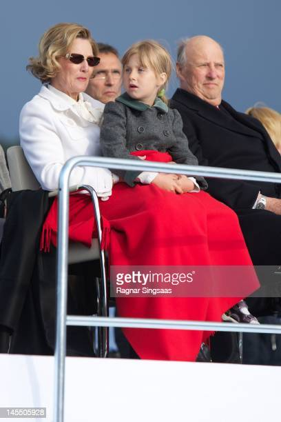 Queen Sonja of Norway Leah Isadora Behn and King Harald V of Norway celebrate King Harald and Queen Sonja of Norway's 75th birthdays at Oslo Opera...