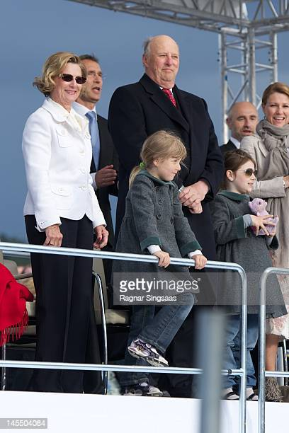 Queen Sonja of Norway Leah Isadora Behn King Harald V of Norway and Maud Angelica Behn celebrate King Harald and Queen Sonja of Norway's 75th...