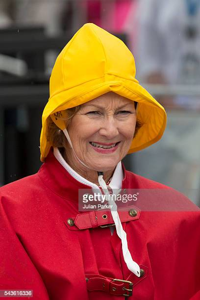 Queen Sonja of Norway on a visit to Kristiansand during the King and Queen of Norway's Silver Jubilee Tour on June 29 2016 in Kristiansand Norway