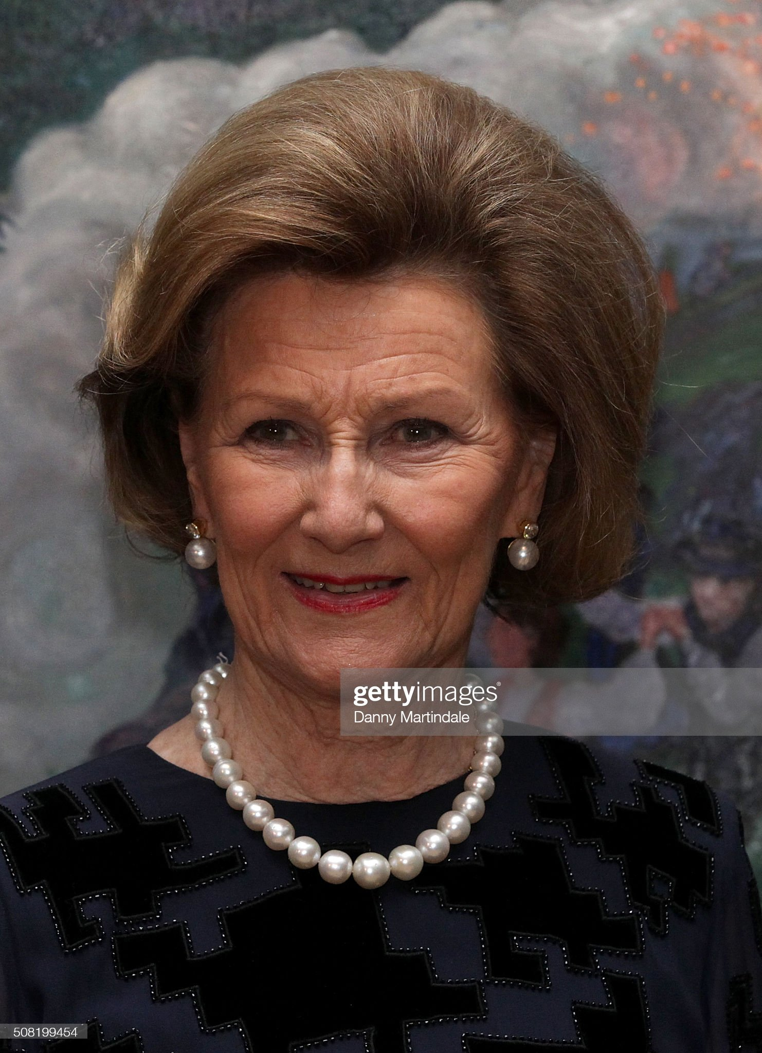 Queen Sonja of Norway Opens Nikolai Astrup: Painting Norway Exhibition : News Photo