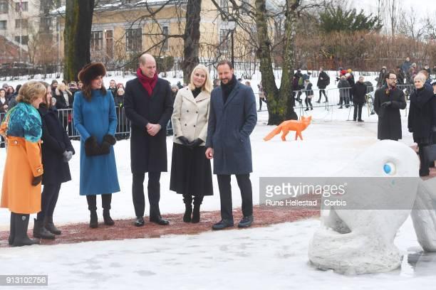 Queen Sonja of Norway Princess Ingrid Alexandra of Norway Catherine Duchess of Cambridge Prince William Duke of Cambridge Crown Princess MetteMarit...