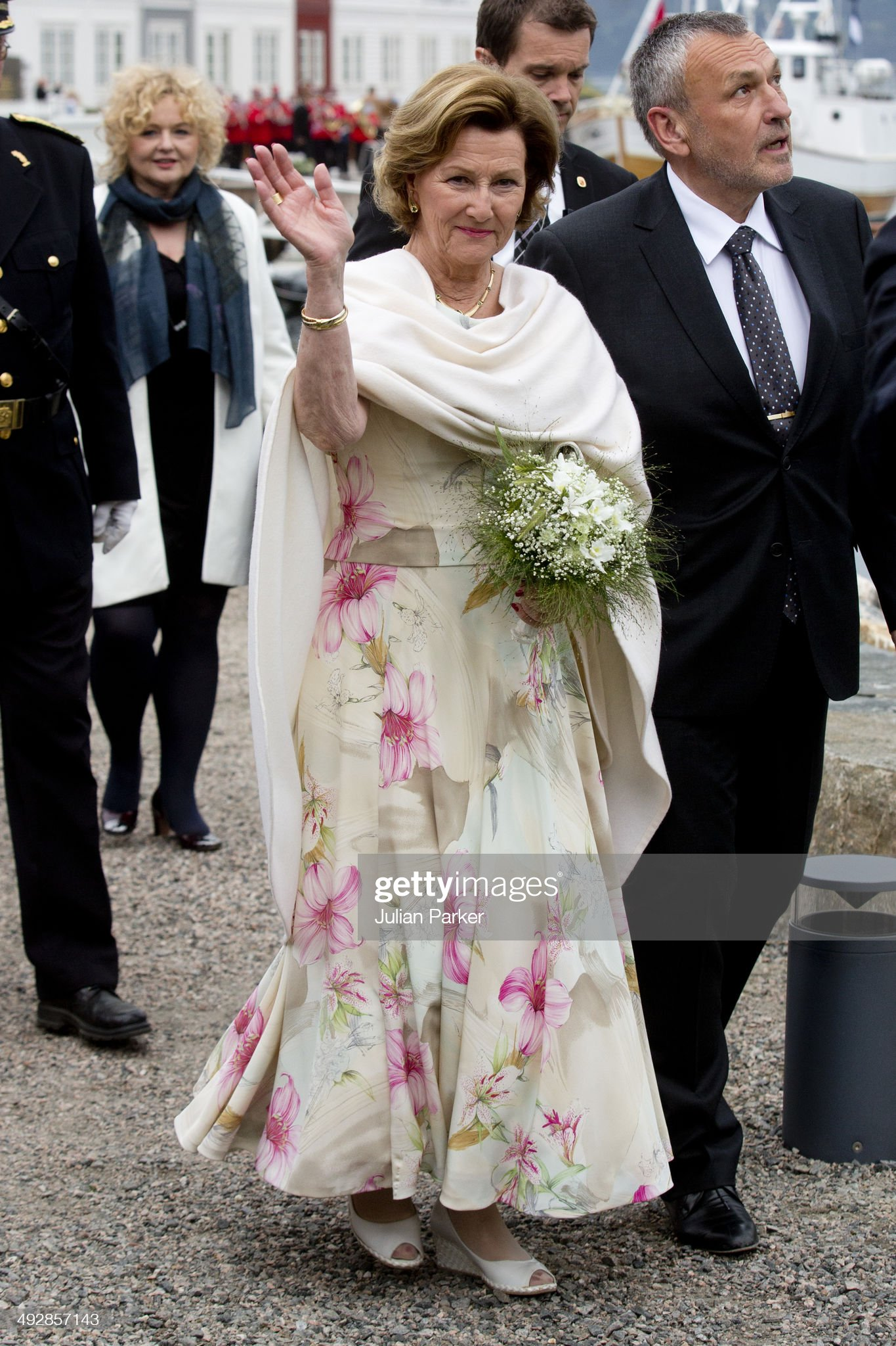 King Harald And Queen Sonja Of Norway Visit More And Romsdal County In Norway - Day 1 : News Photo