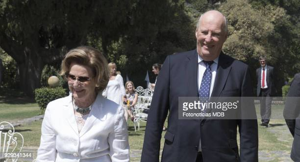 Queen Sonjia of Norway and King Harald of Norway visit 'Villa Maria' country house and hotel on March 8 2018 in Buenos Aires Argentina