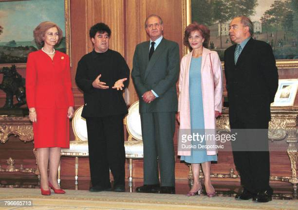 Queen Sophia Pedro Almodovar King Juan Carlos actress Marisa Paredes and the brother of Pedro Almodovar Agustin producer of 'All About My Mot