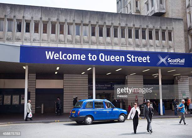bahnhof queen street, glasgow - theasis stock-fotos und bilder