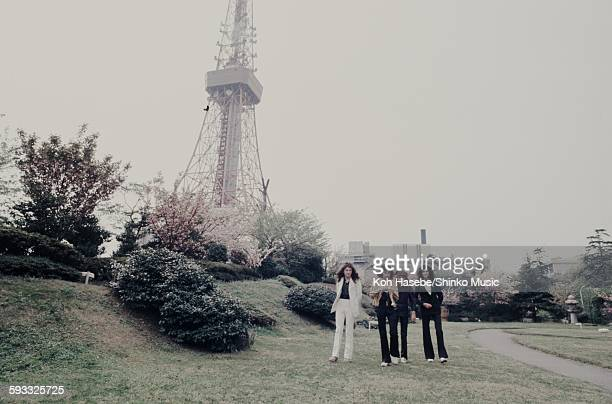 Queen strolling in a Japanese garden Tokyo April 22 1975