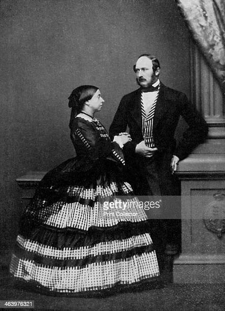Queen Victoria and Albert, Prince Consort, 1861 . A print from King Edward the Seventh, by Philip Magnus, William Clowes and Sons Ltd, London, 1964.