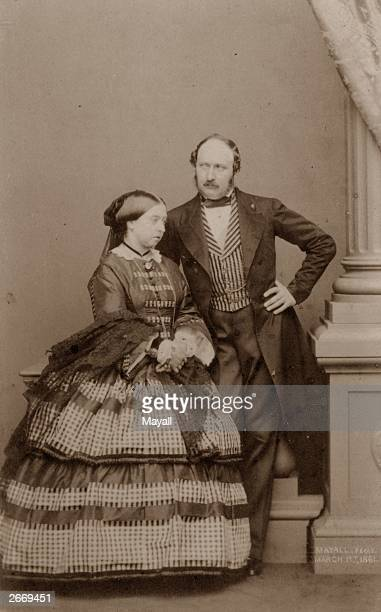 Queen Victoria and her consort Prince Albert just nine months before his early death.