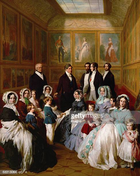 Queen Victoria and Prince Albert as guests of King Louis Philippe at the Chateau d'Eu in 1845 Oil7 x 1778 cm Windsor Castle Windsor Great Britan...