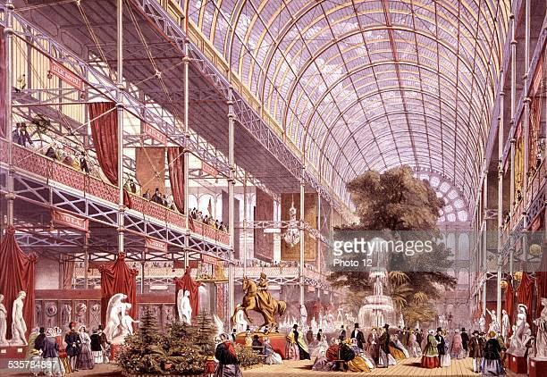 Queen Victoria and Prince Albert inaugurating the great 1851 exhibition The Crystal Palace 1851    England London Victoria and Albert museum