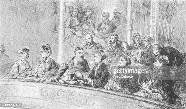 Queen Victoria and The Empress Augusta of Germany at an Albert Hall Concert May 8 1872' Victoria and Augusta Queen of Prussia and Empress of Germany...