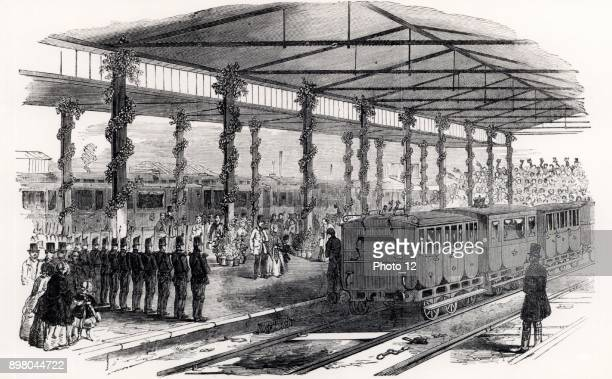 Queen Victoria changing trains at Gloucester 1849 Isambard Kingdom Brunel favoured the 7ft 1/4inch broad gauge and designed the Great Westerrn...