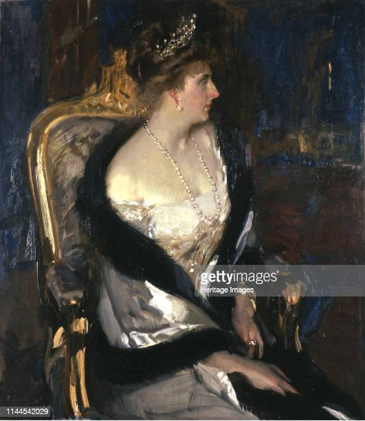Queen Victoria Eugenie of Spain 1911 Found in the Collection of The Hispanic Society of America New York Artist Sorolla y Bastida Joaquín