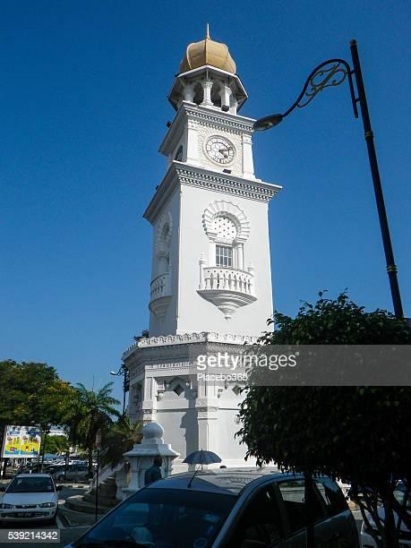 クイーンビクトリア記念クロックタワー、ペナン,マレーシア - 60周年 ストックフォトと画像