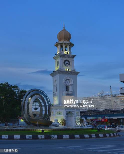 queen victoria memorial clock tower - queen victoria stock pictures, royalty-free photos & images