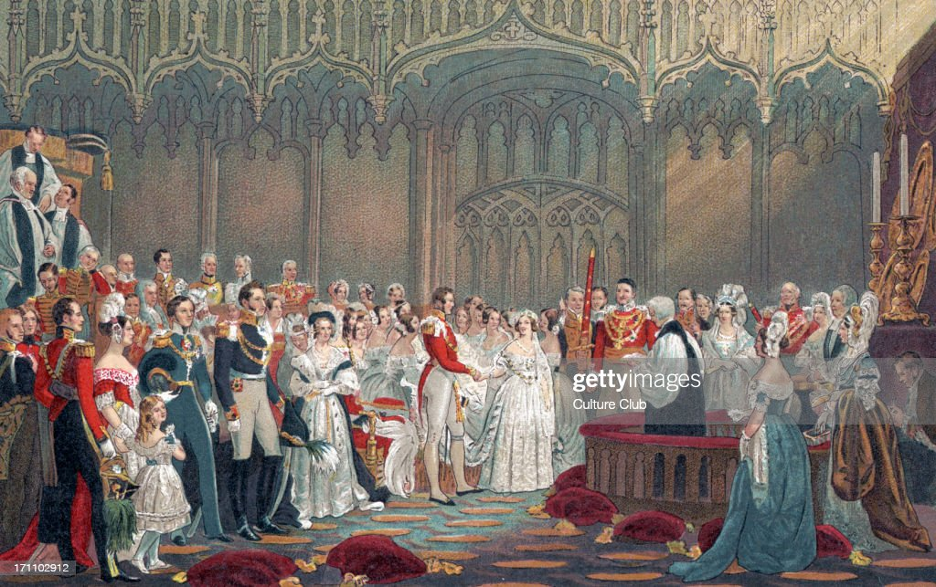 Queen Victoria of England - Her Majesty 's wedding to Prince Albert in 1840. : Nachrichtenfoto