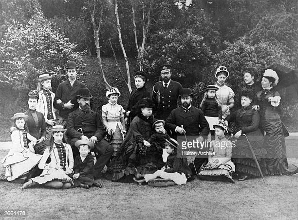 Queen Victoria of England with members of her family
