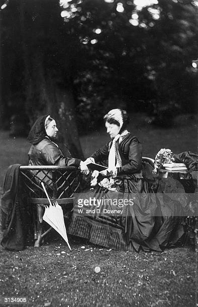 Queen Victoria of Great Britain at Frogmore with Empress Augusta of Germany