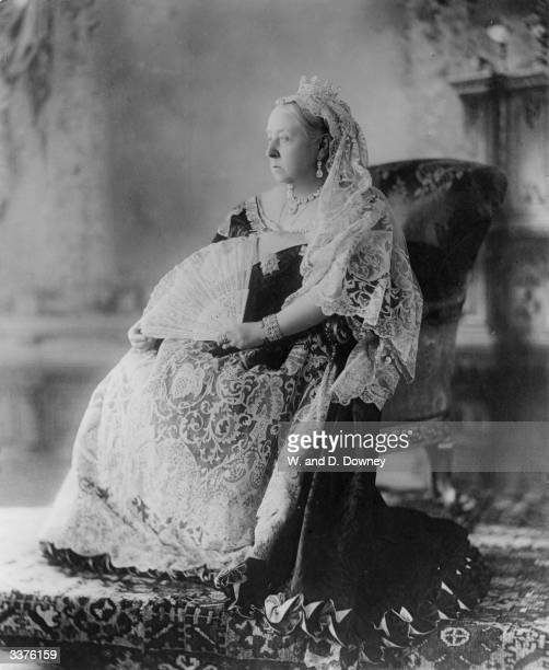 Queen Victoria on the occasion of her Diamond Jubilee after a reign of sixty years