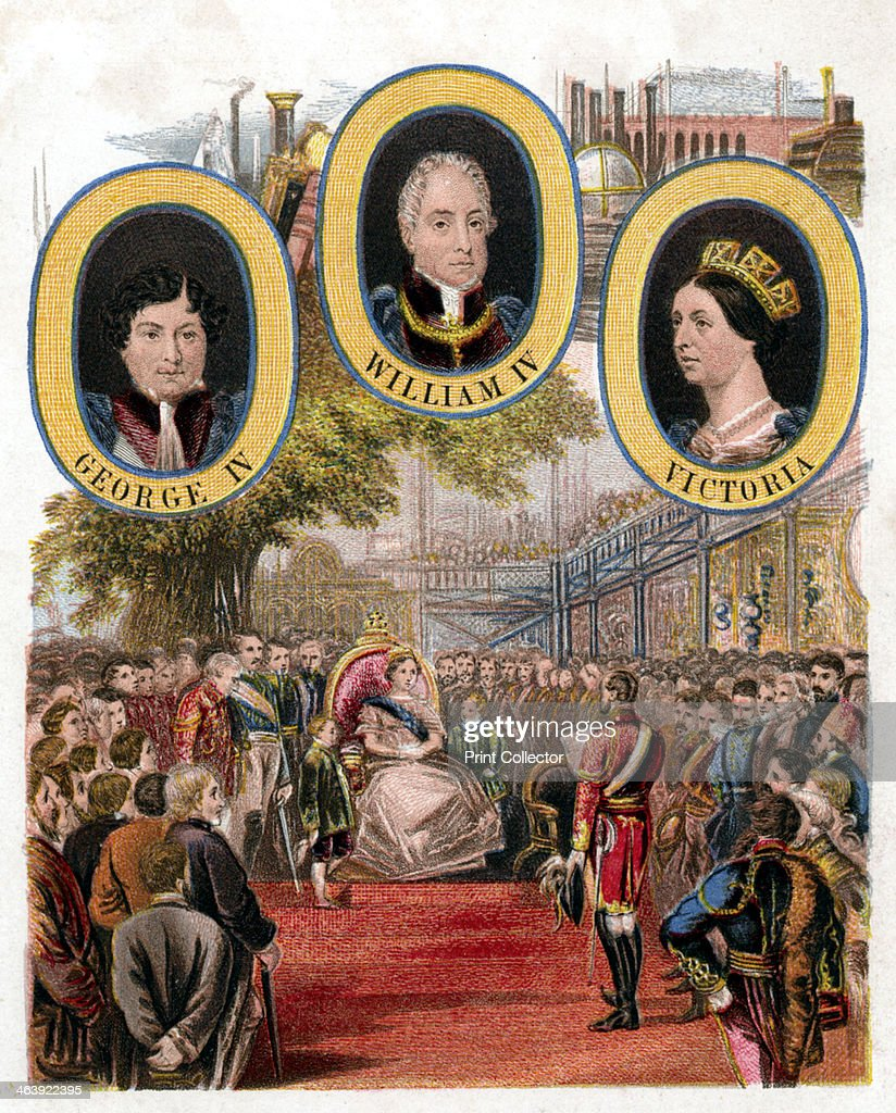 Queen Victoria opening the Great Exhibition, Crystal Palace, London, 1 May 1851. : News Photo