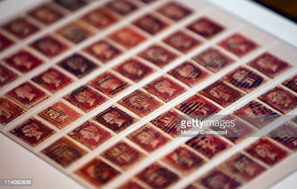 Queen Victoria Penny Red postage stamps