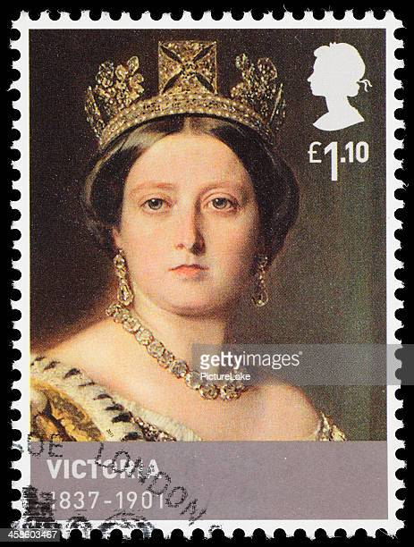 uk queen victoria postage stamp - queen victoria i stock pictures, royalty-free photos & images