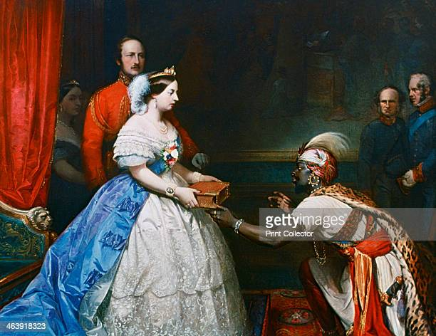 'Queen Victoria Presenting a Bible in the Audience Chamber at Windsor' c1861