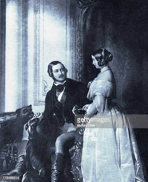 Queen Victoria Prince Albert portrait with game 19thcCentury