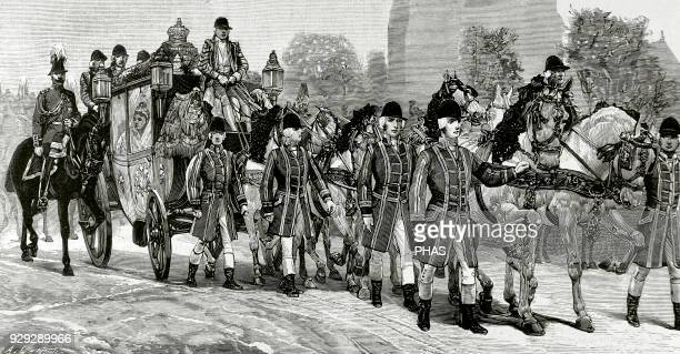 Queen Victoria Queen of the United Kingdom of Great Britain and Ireland and Empress of India London Official opening of the British Parliament The...