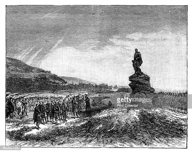 Queen Victoria unveiling a statue of Prince Albert at Balmoral Scotland 1860s The queen presiding at the unveiling of a statue of her late husband...