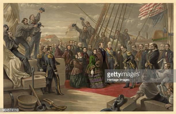 Queen Victoria visiting HMS Resolute 16th December published 1859 HMS Resolute was sent to the Arctic to search for Franklin and later abandoned when...