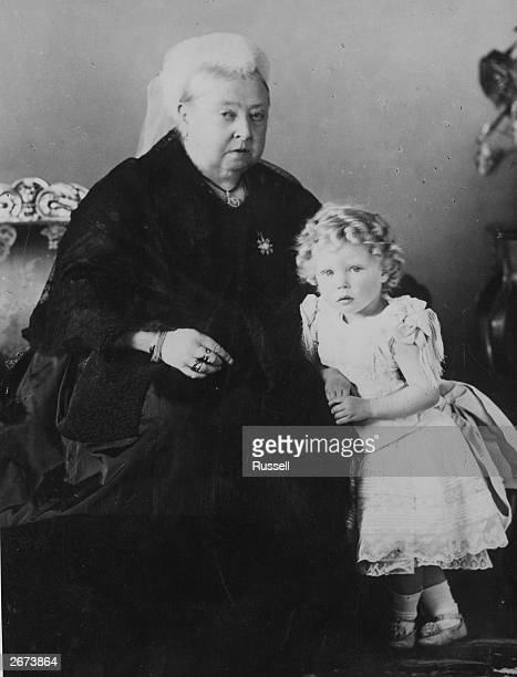 Queen Victoria with her great grandson Prince Edward of York, later King Edward VIII.