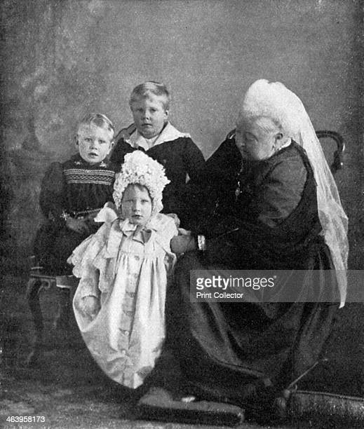 Queen Victoria with the children of the Duke and Duchess of York c1900 The Queen with her greatgrandchildren the children of her grandson Prince...
