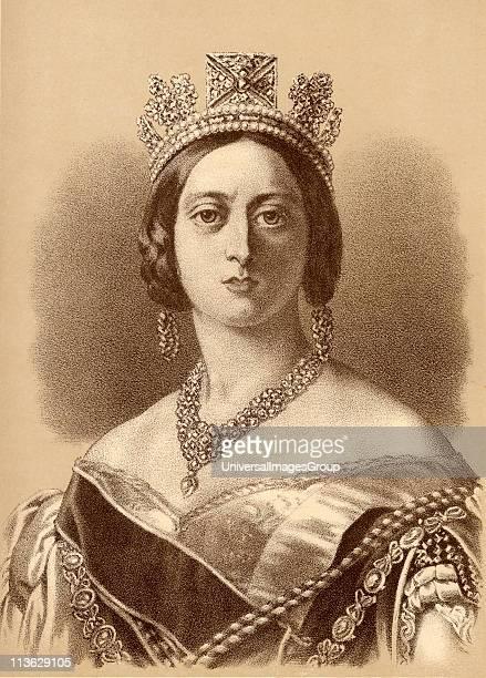 Queen Victoria18191901 Princess Alexandrina Victoria of SaxeCoburg From the portrait by Winterhalter