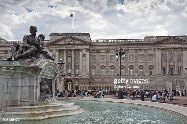 Queen Victoria's fountain outside Buckingham Palace in London, England.