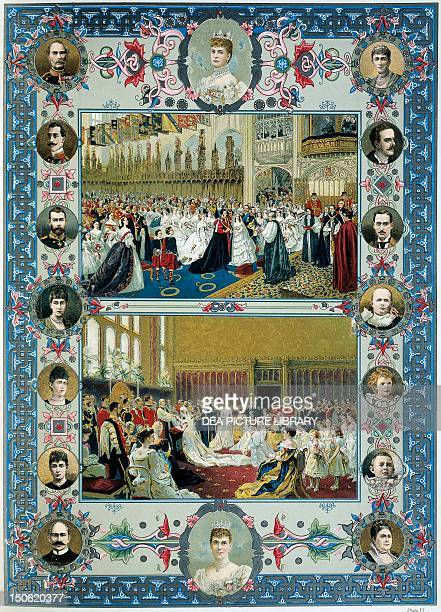 Queen Victoria's Jubilee marrying the Prince of Wales Duke of York's wedding royal portraits Victorian age England 19th century