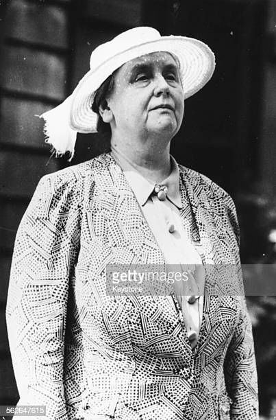 Queen Wilhelmina of the Netherlands pictured during World War Two at her summer residence in Lee Massachusetts 1942 Printed following her death on...